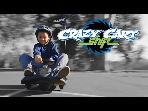 Quảng cáo xe điện quay tròn Razor Crazy Cart Shift Drift