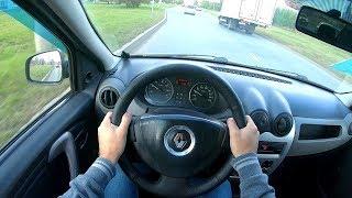 2011 Renault Logan 1.4 (75) POV TEST DRIVE