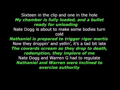 Warren G ft. Nate Dogg -  Regulate - Lyrics - LyricallyArticulate
