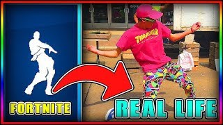 *NEW* FORTNITE: ALL FORTNIT EMOTES IN REAL LIFE COMPILATION! ( All FORTNITE DANCES IN REAL LIFE!)