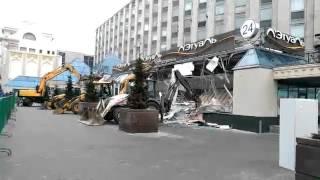 Снос ТЦ «Пирамида» в центре Москвы