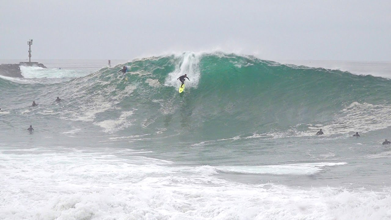 Download Wedge is PUMPING! Pros charge as BIG swell peaks (RAW FOOTAGE)
