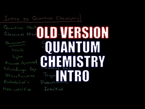Quantum Chemistry 0.1 - Introduction (Old Version)