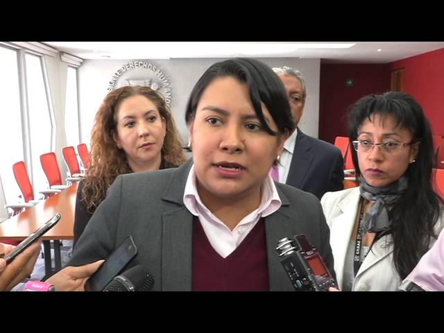 Entrevista a la Dra. Perla Gómez al finalizar la presentación de las Recomendaciones 12 y 13/2015