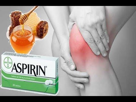 Мед и аспирин облегчит боль в колене и суставах