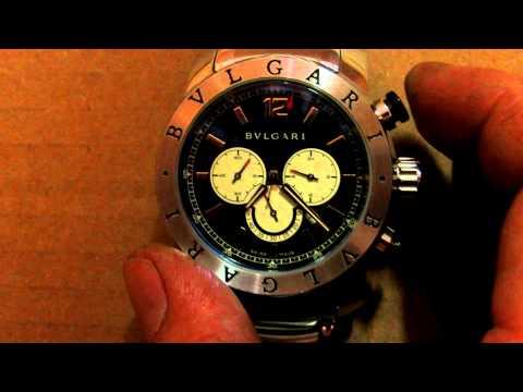 Azul Pulso Modelo Sd38s Bvlgari Cronograph De L2161 Relógio rdoWBeCx