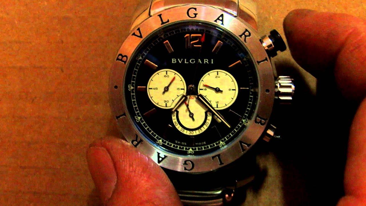 Relógio de Pulso modelo BVLGARI SD38S L2161 Cronograph Azul