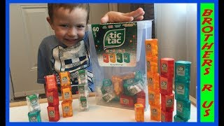 GIANT TIC TAC SPENDER BOX with 60 Mini Boxes Fun Candy Review by Brothers r Us!