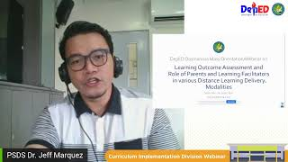 DIVISION WEBINAR ON LEARNING OUTCOME ASSESSMENT AND ROLE OF PARENTS AND LEARNING FACILITATORS