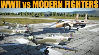 WWII Planes Vs Modern Fighters In Dogfights | DCS WORLD