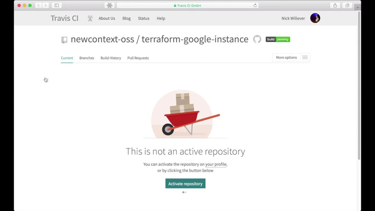 Setup Continuous Integration for a Terraform module