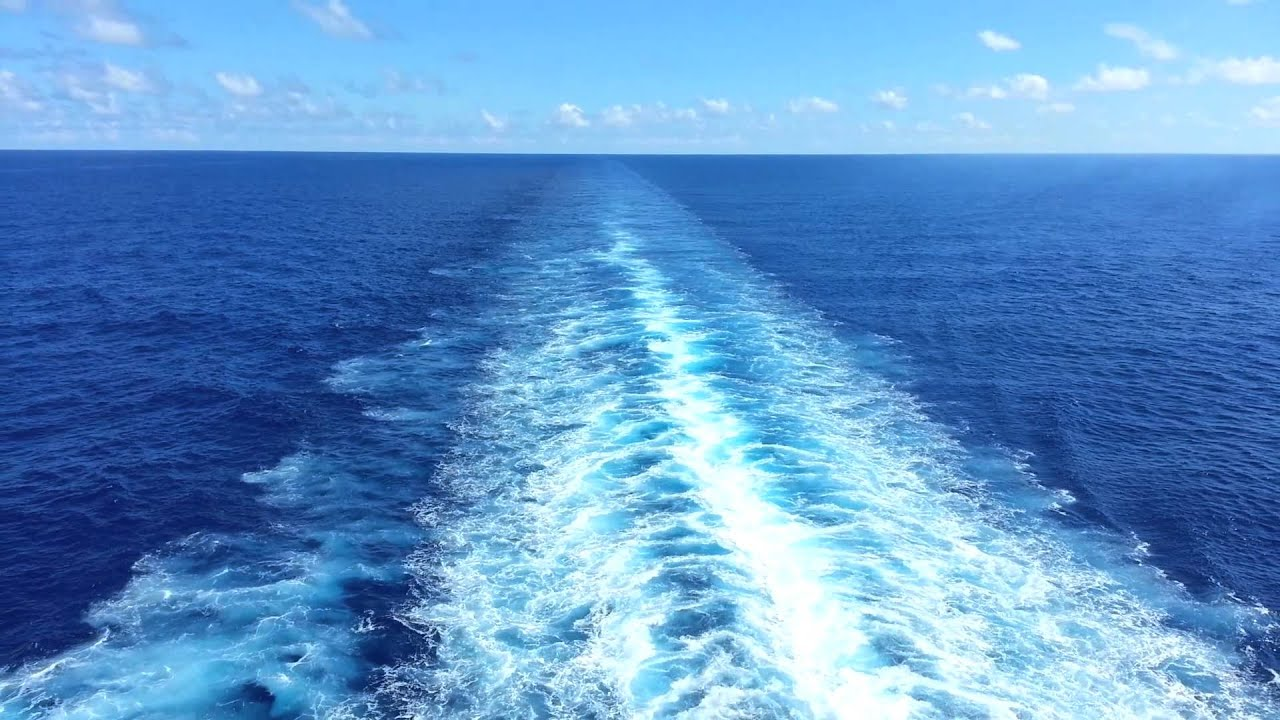 Cruise Ship Wake Most Relaxing View In The World Youtube