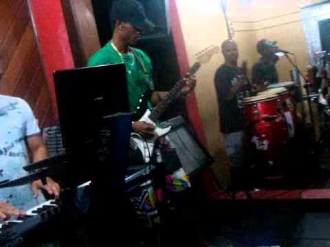 Banda Groov Ghetto Ensaiando No Studio Ks91