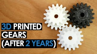 3D Printed PLA Gear after 2 Years? - Spur Gear Tool in Fusion360