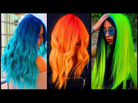 Top Best Long Hair Color Transformation Tutorials Compilation 2019! Best Colorful Long Hair
