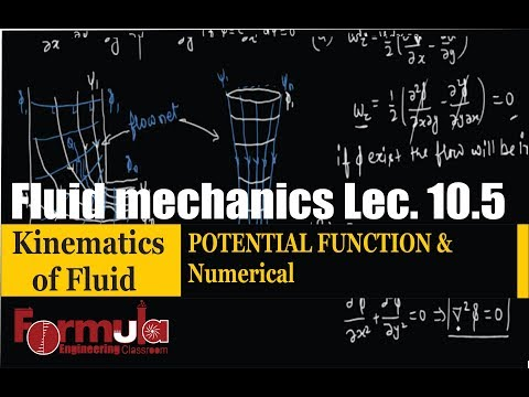 Fluid Mechanics lec.10.5 Kinematics of fluid( POTENTIAL FUNCTION and Numerical)