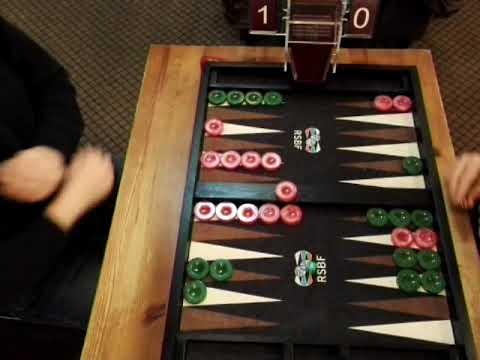 Moscow Backgammon Masters. 7 point match. AZIZOV (pink) - SADGYAN (green).