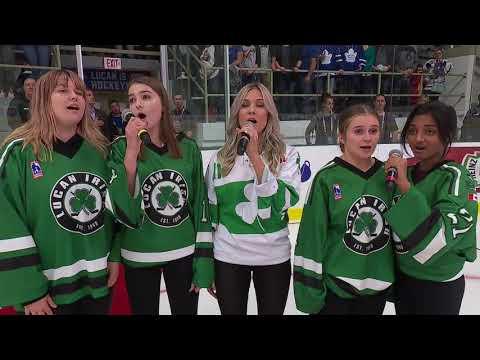 Julia Haggarty - National Anthem Kraft Hockeyville - Toronto Maple Leafs vs. Ottawa Senators