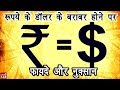 What happens if Rupee equals Dollar in Hindi | By Ishan