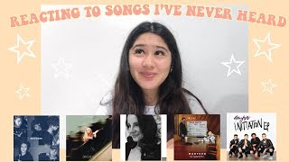 REACTING TO SONGS I'VE NEVER HEARD ☆ WHY DON'T WE, MARTEEN, SABRINA CARPENTER, 4TH AVE & MORE! Video