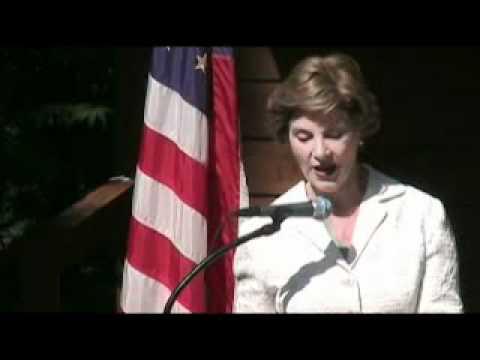 Laura Bush visits Flat Rock
