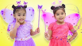 Suri & Annie Pretend Play Costume Dress Up & Flying Fairy Toy