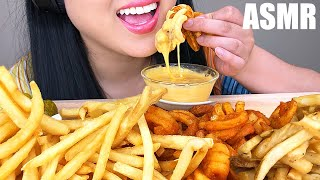 ASMR MOST POPULAR FAST FOOD FRIES + CHEESE SAUCE (No Talking) | ASMR Phan