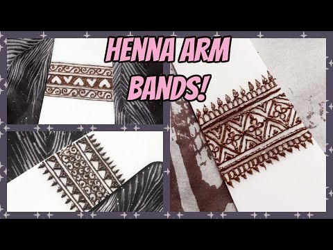 3 Easy Henna Arm Bands Simple And Pretty Arm Band Tattoos