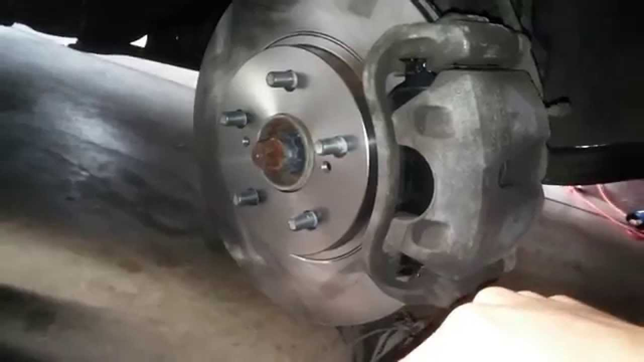 When To Replace Brake Pads >> 2008 Toyota Sienna Front Disc Brake Replacement - YouTube