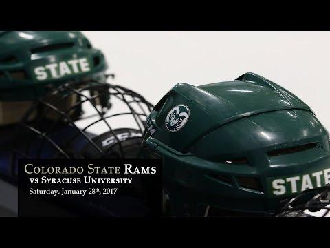 CSU Rams Hockey vs Syracuse - Jan 28, 2017