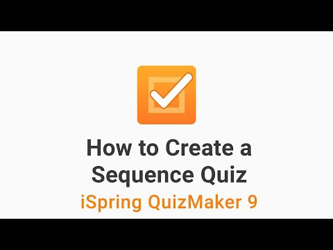 How to Create a Sequence Quiz