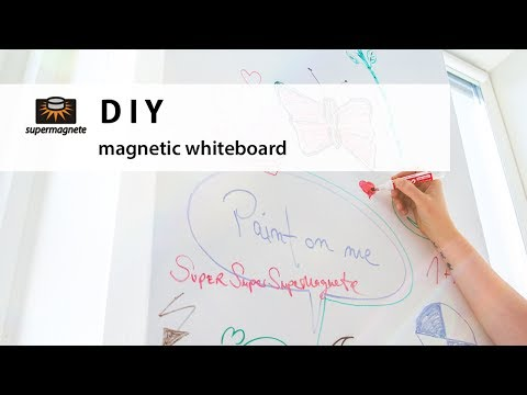 DIY - How to make your own magnetic whiteboard - supermagnete