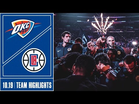 Clippers vs. Thunder Game Highlights | 10/19