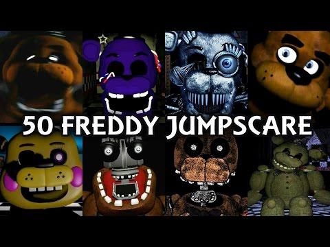 50 FREDDY JUMPSCARES! | FNAF & Fangame