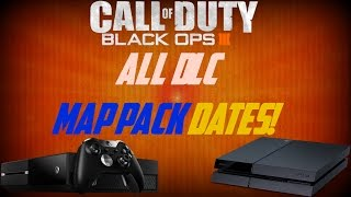 BLACK OPS 3: ALL DLC MAP PACK RELEASE DATES! (BLACK OPS 3 DLC 2,3,4) PS4, XBOX ONE & PC!
