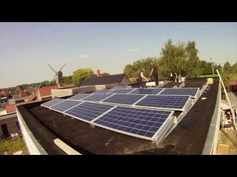 Installing Solar Panels on a flat roof - ENVICE BVBA