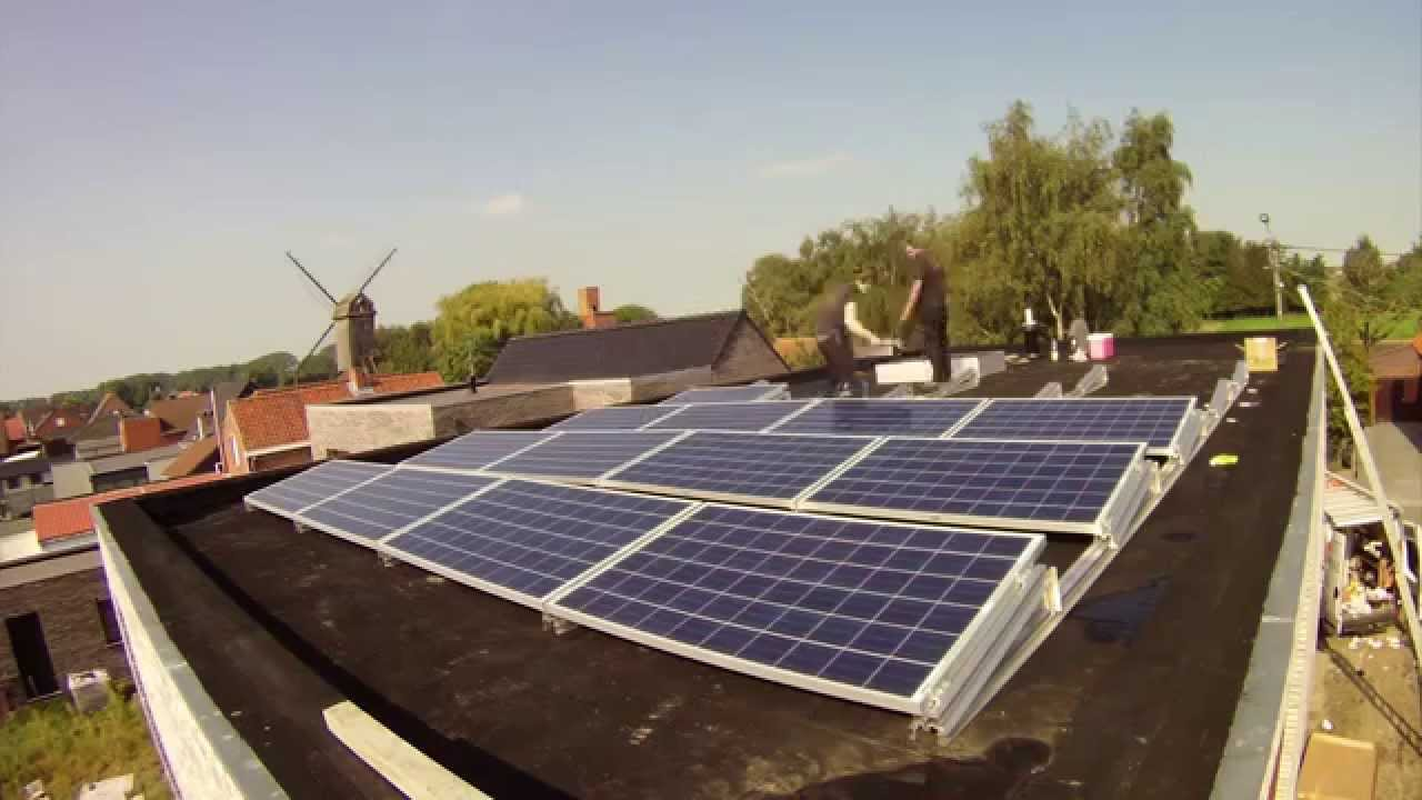 How to install a solar system on my roof - Installing Solar Panels On A Flat Roof Envice Bvba