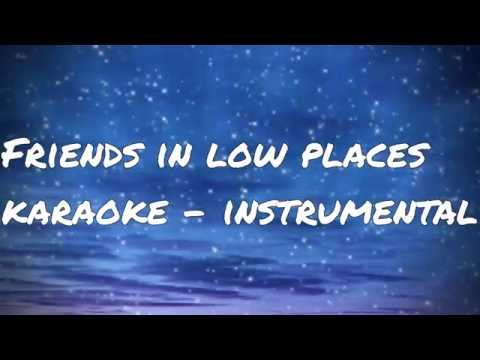 Garth Brooks - Friends in low places - karaoke/instrumental