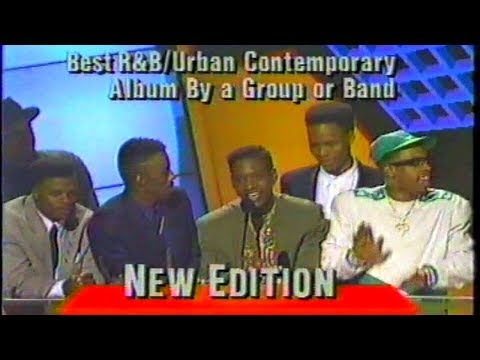 New Edition wins Album of the Year 1989 Soul Train Awards