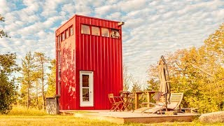 Stunning Beautiful The Tall Red Tiny House Near Belleville Ontario | Living Design For A Tiny House