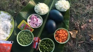 Emu egg Fried rice made in My Village - Cooking Big Eggs in My Village - Cooking in My Village
