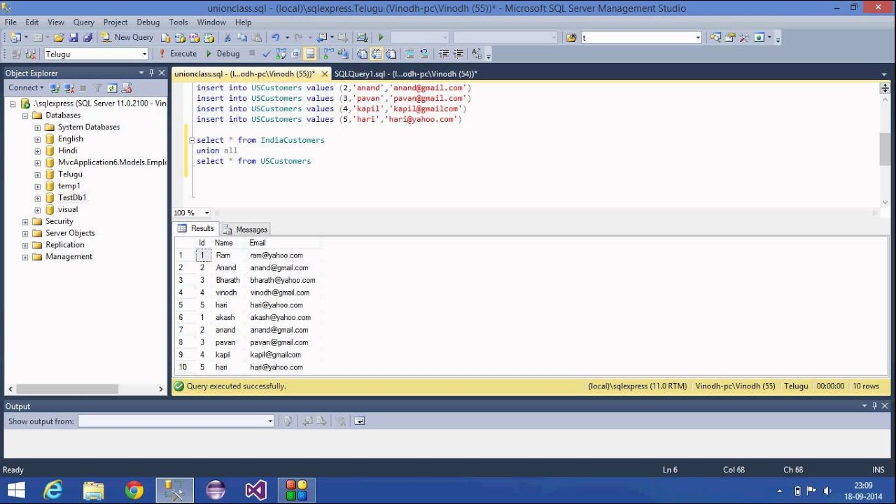 8sql server tutorial hindiunion and union all operator youtube sql server tutorial hindiunion and union all operator gamestrikefo Gallery