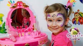 Волшебное зеркало для девочек. Распаковка. Обзор. Игрушка с детской косметикой для Девочек принцесс