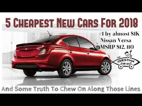 5 Cheapest New Cars For 2018
