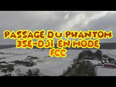 Drone DJI Phantom 3se: essai de passage en mode FCC