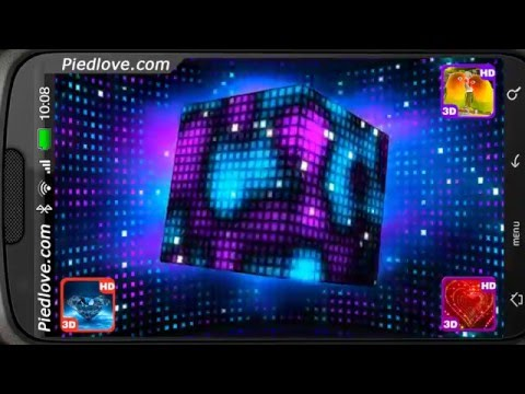 Bright Sparkling Pixel Cube Deluxe 3D Personalization For Android [PiedLove]