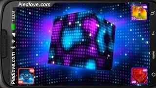 Bright Sparkling Pixel Cube 3D