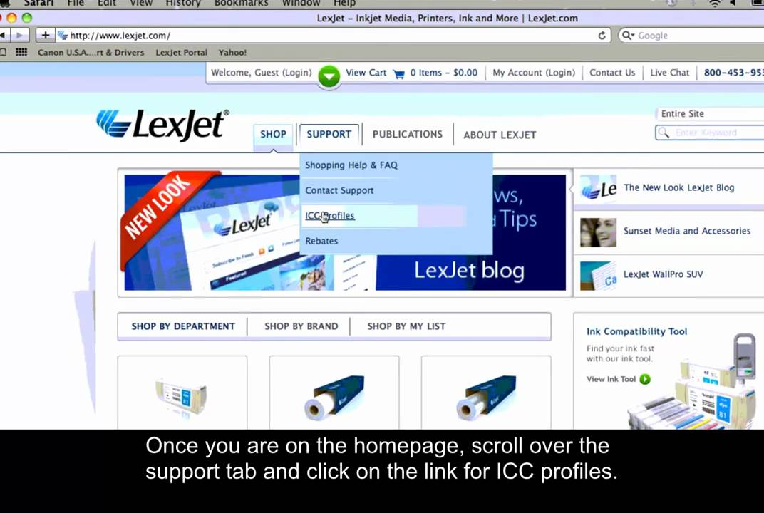 Download and Install ICC Profiles - Mac