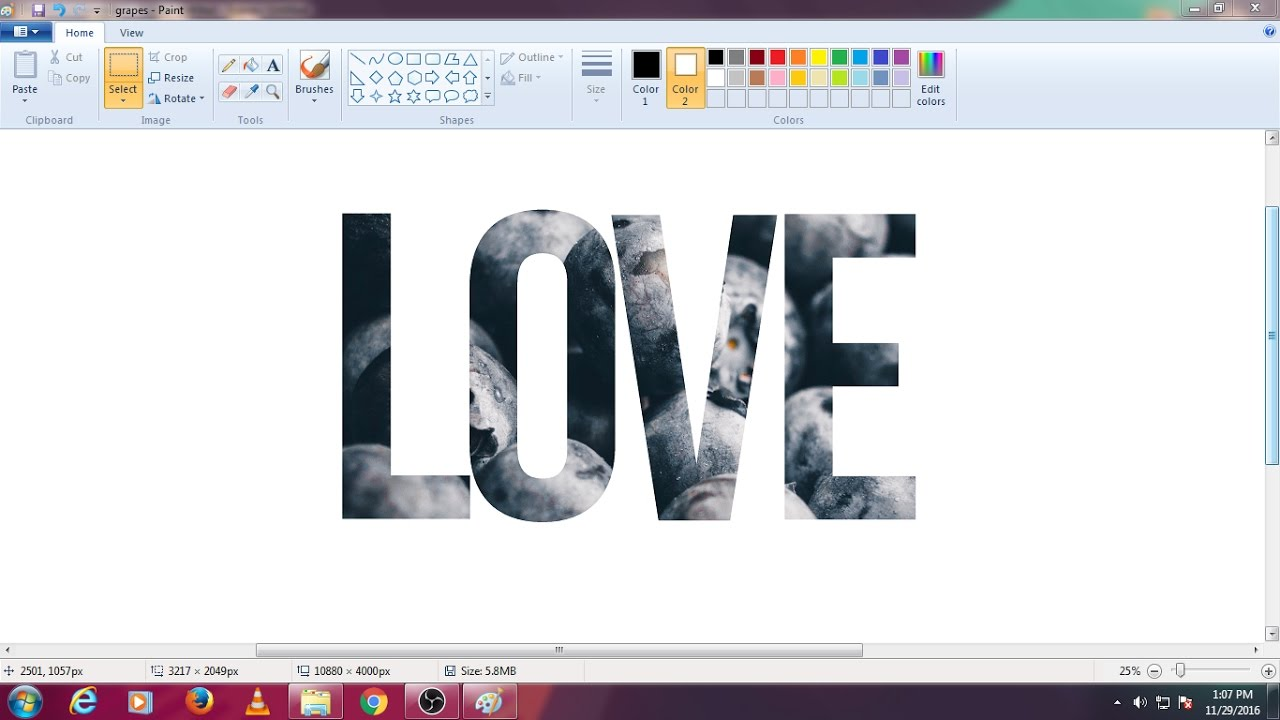 Text Tutorial in MS Paint | How to put an Image into ...