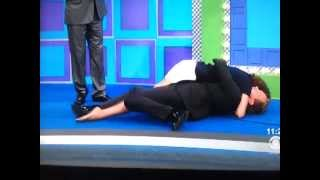 Insane girl tackles Drew Carey on The Price is Right